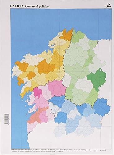 Mapa Politico De Galicia.Mapa Politico Galicia Comarcal Pack De 50 Unidades Mapas
