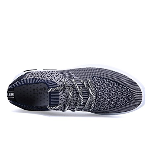 Chaussures Argent Casual 44 respirant Black Sneakers 44 Chaussures printemps Color de Weave Casual course Fly Hommes Hommes TZx8F8