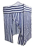 Tent Changing Room Camping Cabana Outdoor Pop Up Canopy Portable Blue Stripe