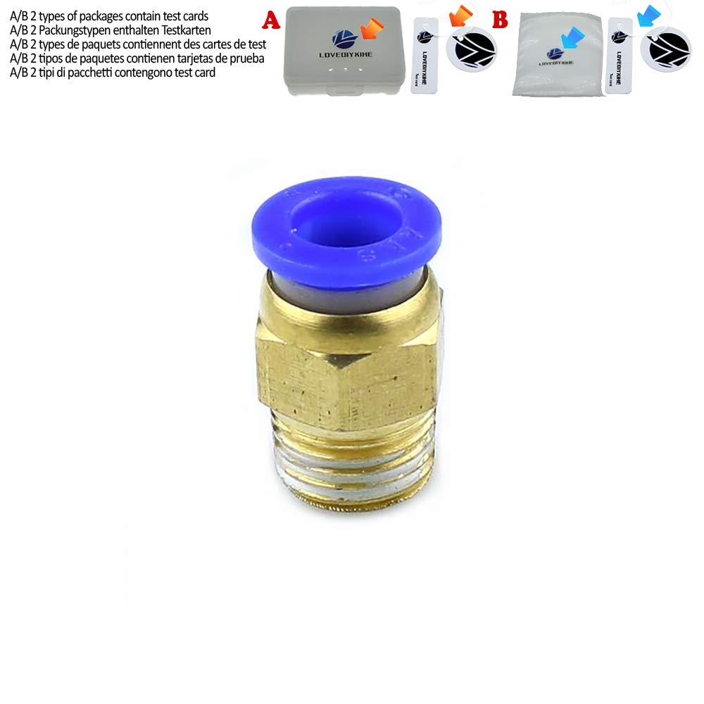 Conector r/ápido neum/ático para tuber/ía de aire 1//4PT 1//8 3//8 pulgadas 1//2 rosca a trav/és del cilindro de aire inserto r/ápido PC4//6//8//10//12 1 pieza