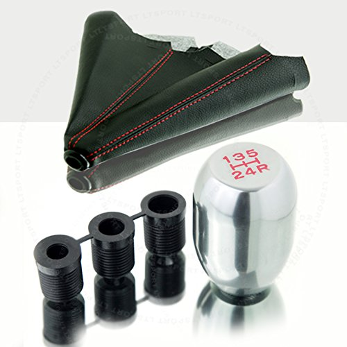 LT Sport SN#100000000762-0763-212 for Ford Aluminum Manual Stick Shift Knob Boot Combo - Ford Probe Shifter Short