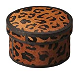 Offex Living Room Handcrafted Distinctive Leather Storage Box - 5''H
