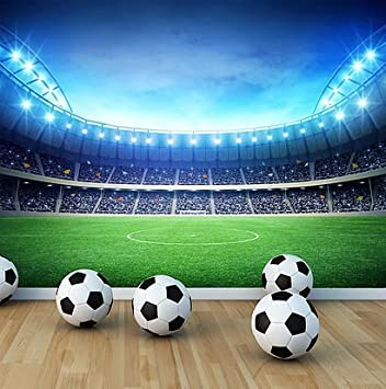 Awesome Football Stadium Wall Mural Photo Wallpaper Boys Kids Bedroom Playroom (X  Large 1900mm X 1488mm Part 11