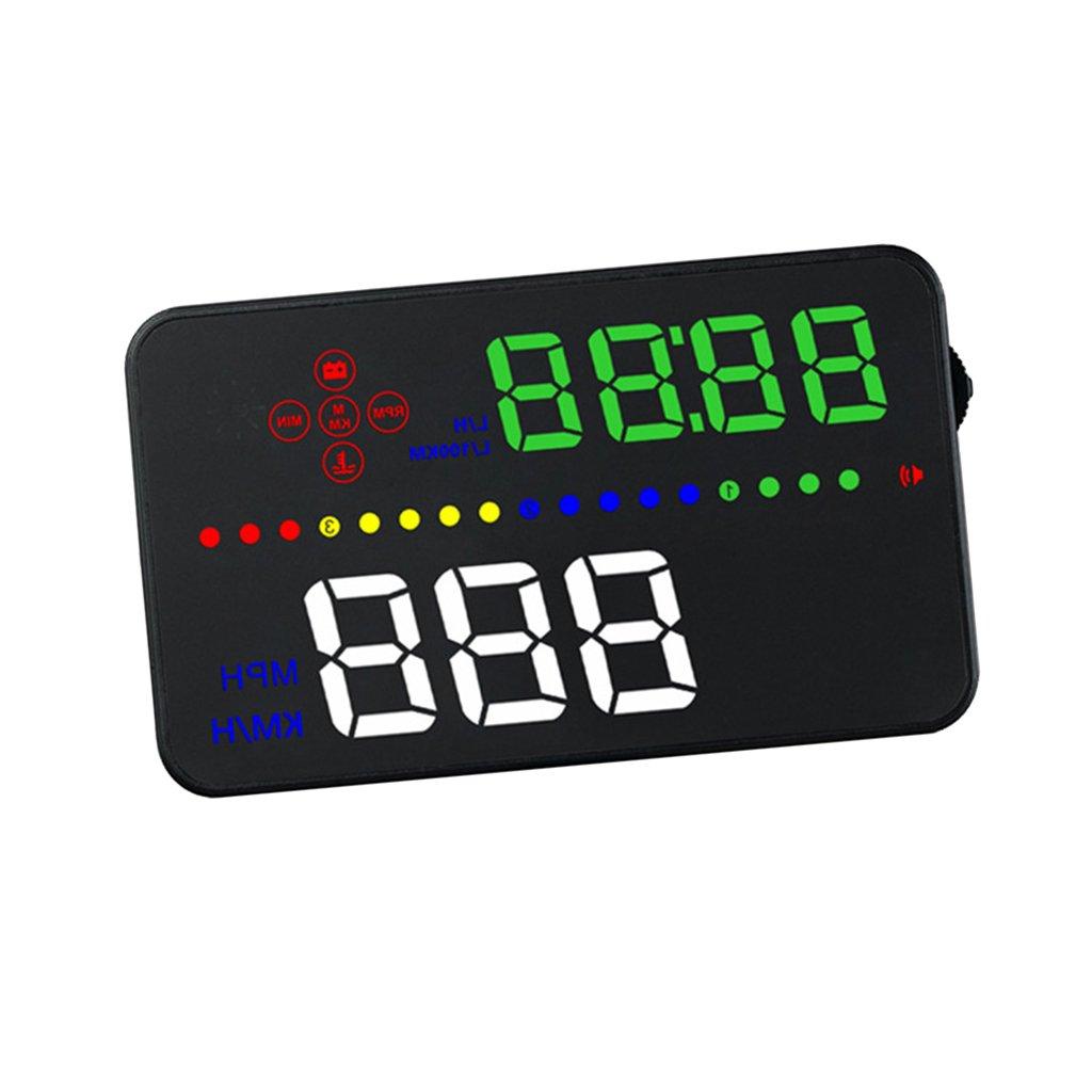 MagiDeal Auto HUD Alarmsystem Universal 3 Zoll Heads-Up Display Mit LED Digtalanzeige OBDII Schnittstelle Geschwindigkeit Warnung System