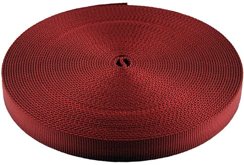 3/8 Inch Red Berry Heavy Plus Nylon Webbing Closeout, 10 Yards ()