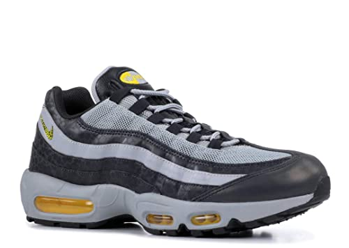 25b428d4a5 Nike Men's Air Max 95 Off Noir/Dynamic Yellow/Atmosphere Grey Leather Cross-