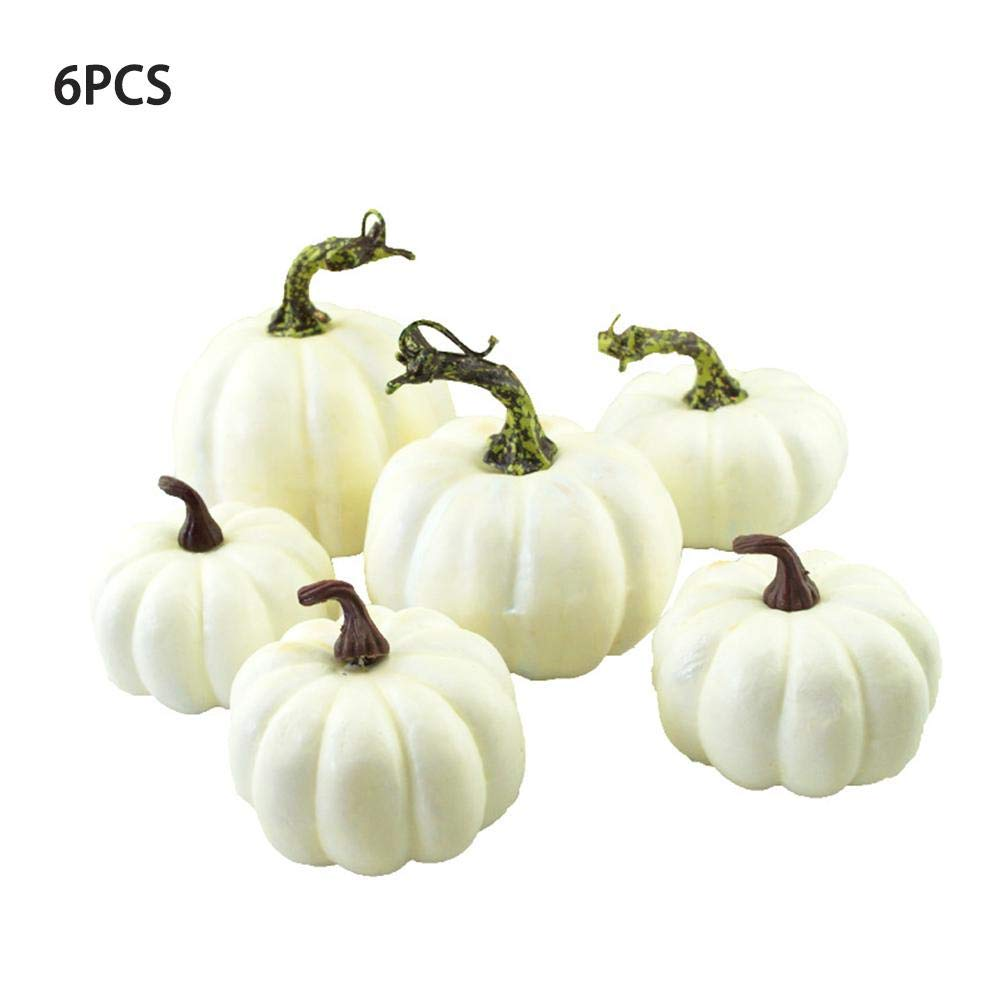 Lucky-all-star 6 PCS Mini Kürbis, Simulation Kürbis Creative Kürbis Schaumstoff Halloween Party Garten Decoration-DIY Toys