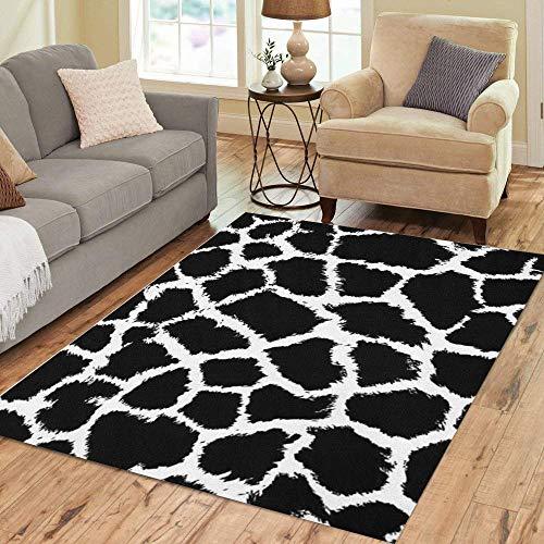 Pinbeam Area Rug Pattern Giraffe Skin Animal Tribal Cheetah Color Stripes Home Decor Floor Rug 2' x 3' Carpet