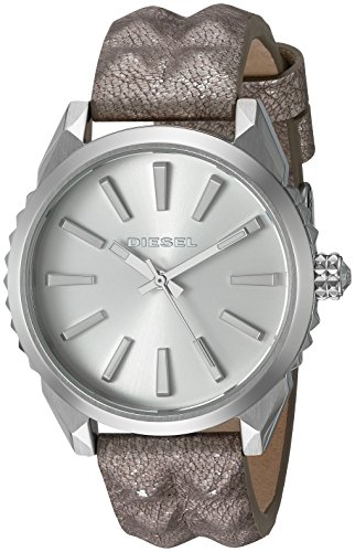 Diesel Women's 'Nuki' Quartz Stainless Steel and Leather Automatic Watch, Color:Silver-Toned (Model: DZ5515)