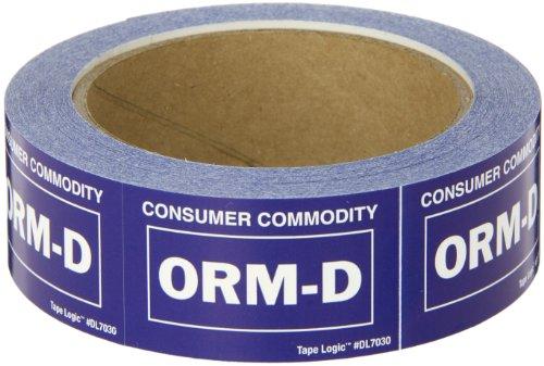 Tape Logic ORM-D Dot Label, LegendConsumer Commodity ORM-D, 2-1/4 L x 1-3/8 W, Roll of 500 (DL7030)