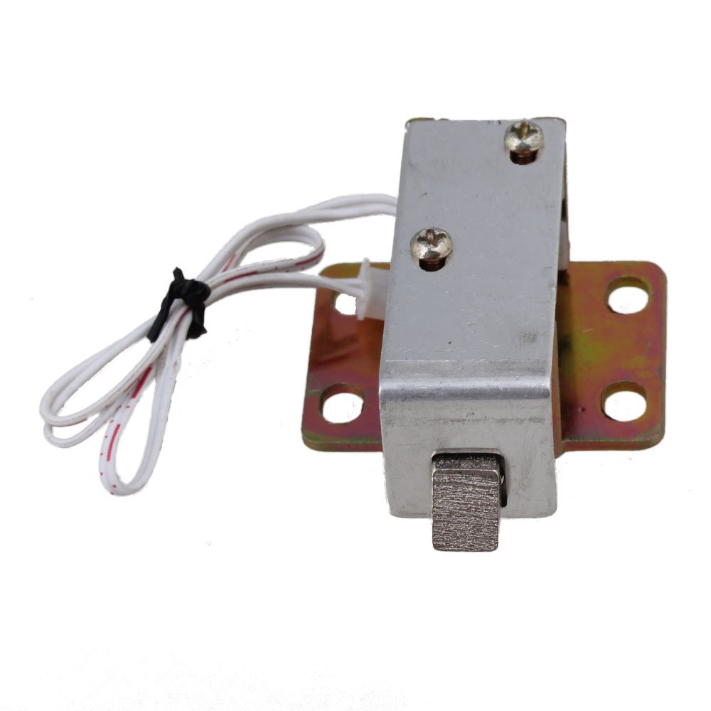 24V Cabinet Door Electric Lock Tongue Right Assembly Solenoid TFS-A21 Round
