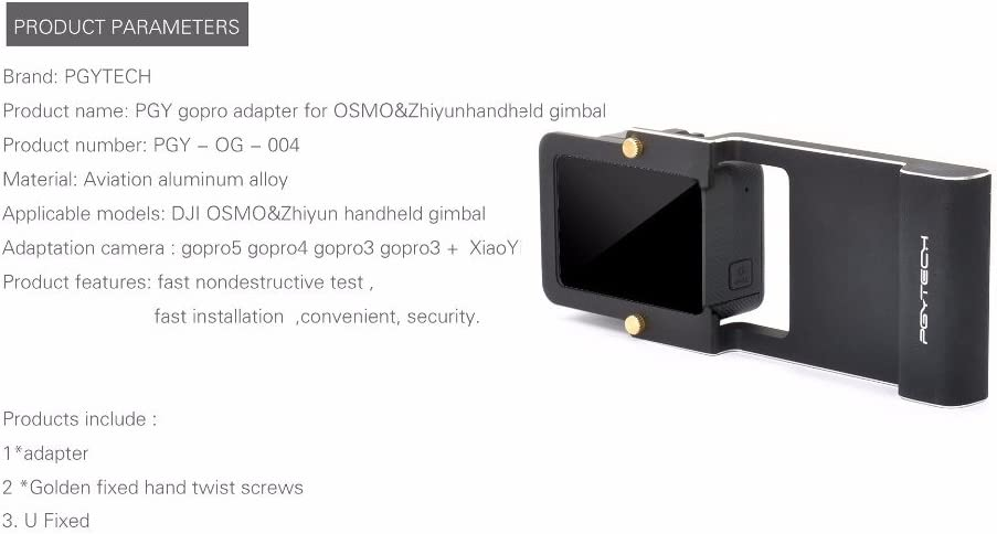 Mulong PGYTECH Adapter for osmo mobile zhiyun Gopro Hero 6 5 4 3 xiaoyi smooth Q accessory switch mount plate Camera drone parts