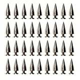DYWISHKEY 100pcs 15mm Bullet Cone Spike and Stud Metal Screw Back for DIY Leather-craft