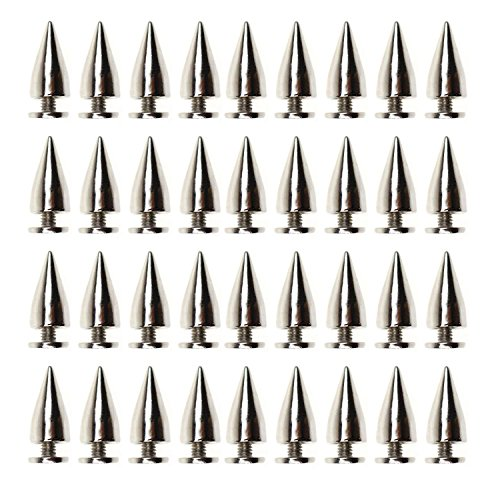 m Bullet Cone Spike and Stud Metal Screw Back for DIY Leather-craft ()