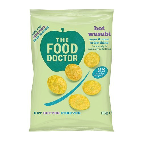 Unknown The Food Doctor Hot Wasabi Corn And Soy Crisp Thins, 23g