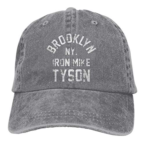 (Nima920shabi Men Womans Unisex Comfortable Brooklyn New York Iron Mike Tyson Boxing Adult Cowboy Cap Gray)