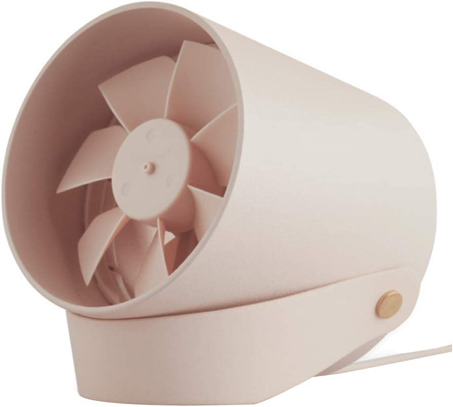 vinivn Silent Smart Touch USB Dual-Leaf Fan Mini Portable Student Fan can be Placed in The Tent.
