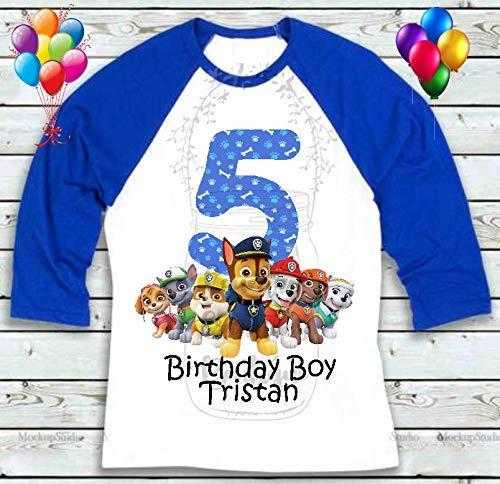 Paw Patrol Custom Birthday Shirt Personalized T-Shirt
