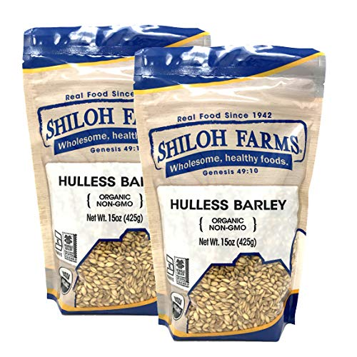Farm Grain Whole - Shiloh Farms - Organic Non GMO Hulless Barley 15 ounce - 2 pack