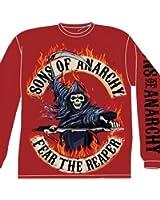 Sons of Anarchy 'Flaming Reaper' Longsleeve T Shirt Samcro Biker