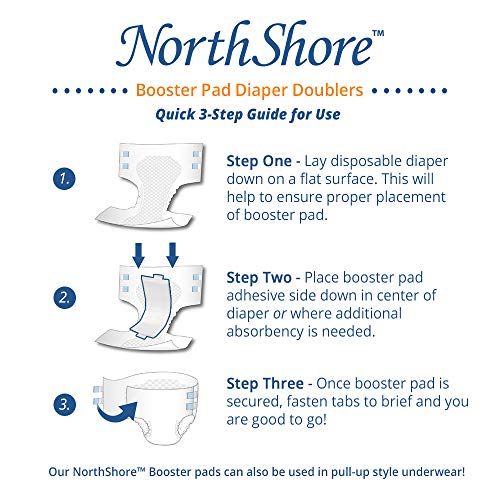 NorthShore Booster Pads with Adhesive, Medium, Case/120 (4/30s) by NorthShore (Image #3)