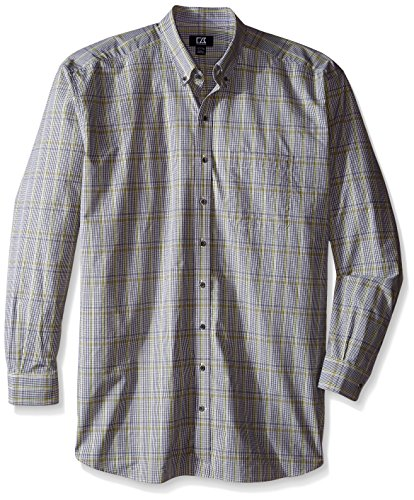 Cutter & Buck Men's Big and Tall Long Sleeve Chanson Plaid, Limerick, 3X/Tall