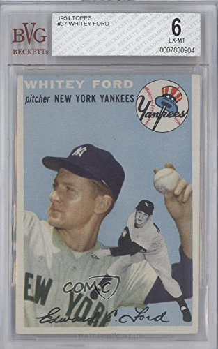 Whitey Ford BVG GRADED 6 (Baseball Card) 1954 Topps - [Base] #37 (Ford Whitey Baseball)