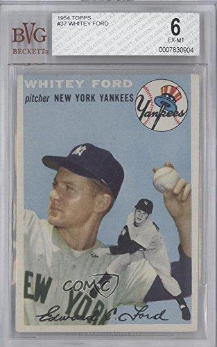 Whitey Ford BVG GRADED 6 (Baseball Card) 1954 Topps - [Base] #37 (Baseball Ford Whitey)