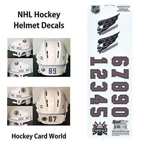 ((HCW) Washington Capitals SportsStar NHL Hockey Helmet Decals Sticker)
