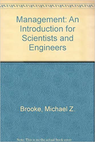 Management: An Introduction for Scientists and Engineers