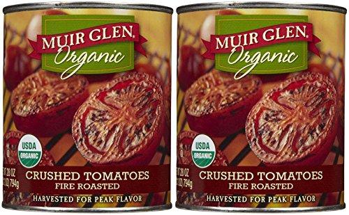 Muir Glen Organic Crushed Tomatoes, Fire Roasted, 28 oz, 2 pk - Fire Roasted Crushed Tomatoes