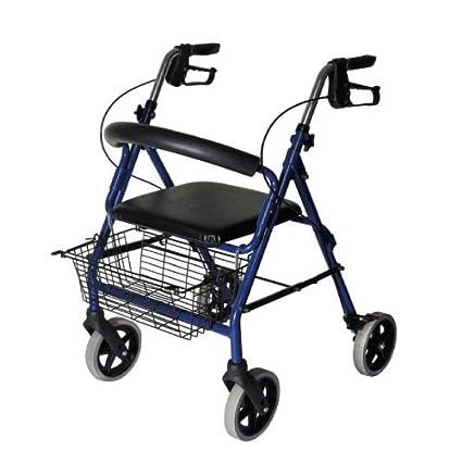 Rollator Pieghevole Alluminio.Deambulatore Rollator Pieghevole In Alluminio Con Sedile Imbottito E Cestino Termigea Mod Ro23