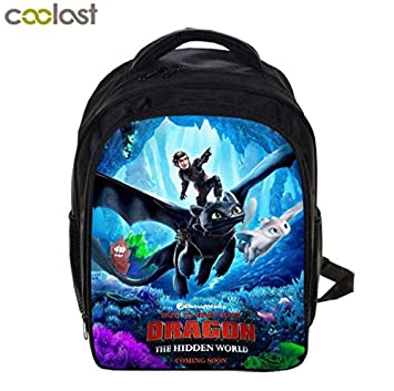 e0eff80f9f0 Amazon.com: Kids Backpack How to Train Your Dragon 3 School Bags Travel  Laptop Rucksack Gift (B): Ewings