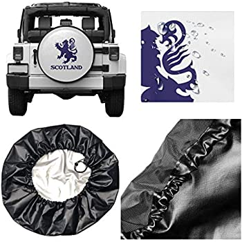 Belleeer Copriruota di scorta,USA America Thin Red Line Flag Dust-Proof Wheel Tire Covers Universal Spare Tire Cover Fits 14,15,16,17 in