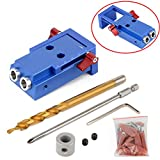 Mini Pocket Hole Jig Kit For Woodworking Joinery And Step Drill Bit Screwdriver Screw Spike Wood Work Tools