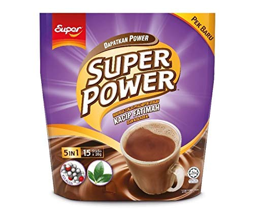 4 Pack Super Power 5 in 1 Chocolate Drink Kacip Fatimah and Collagen Imported from Malaysia (4 x 15 Sachets) Free Express Delivery
