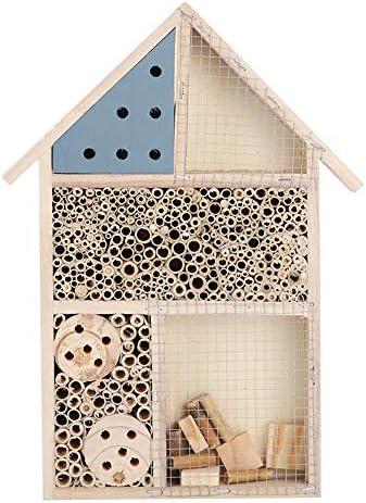 Caredy Hölzernes Insektenhaus, Bienenstock Schmetterlingshaus Insektenhaus Nützliches Käferhaus Hölzernes Käferzimmer Hotel-Schutz-Garten-Dekorations-Nester-Kasten