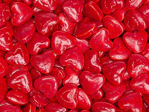 Cherry Red Hearts Pressed Candy - 1.3 Pounds ()
