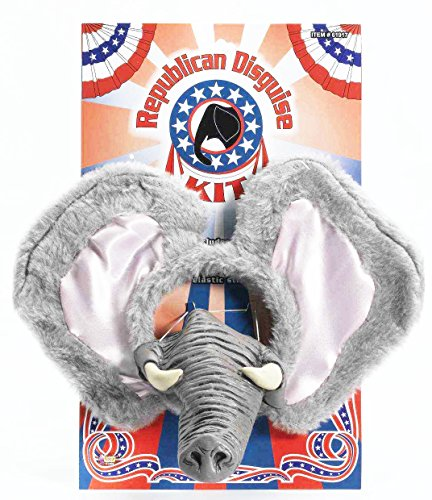 Elephant Trunk Costume (Forum Novelties Men's Republican Party Instant Disguise Kit, Grey, One Size)