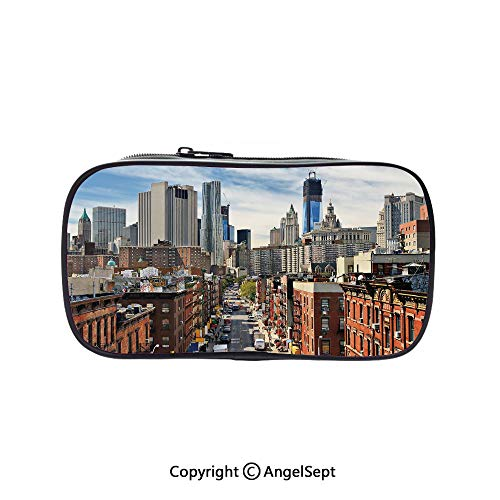 Cute Pencil Case - High Capacity,Lower Manhattan Cityscape
