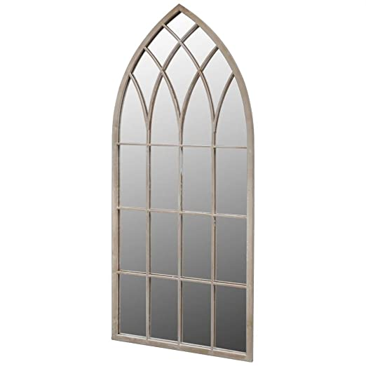 FZYHFA - Espejo de jardín gótico para Uso Interior y Exterior, 115 x 50 cm: Amazon.es: Hogar