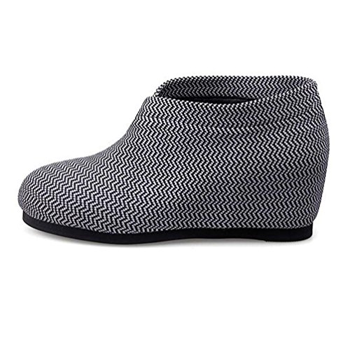 Chaussures Taille Femmes BOTXV Mesh BLACKANDWHITE 35 Hauts Ronde Mesdames compensées Surface Chaussures Talons rayée Automne Mesh 7qdOxrq