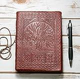 Sacred Oak Tree Leather Blank Book