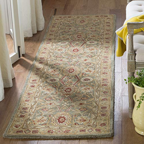 Safavieh Anatolia Collection AN516A Handmade Traditional Oriental Sage and Ivory Wool Runner (2'3