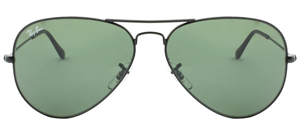 aa4318457d Amazon.com  RAY BAN AVIATOR     RB3025-L2823-5814     BLACK FRAME CRYSTAL  GREEN LENS  Shoes
