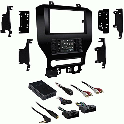 Metra 99-5840CH Single/Double DIN Dash Kit for Select 2015-Up Ford Mustang Vehicles by Lessco Electronics