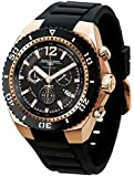 Jorg Gray JG9700-23 Black and Gold Divers Watch with Swiss Movement