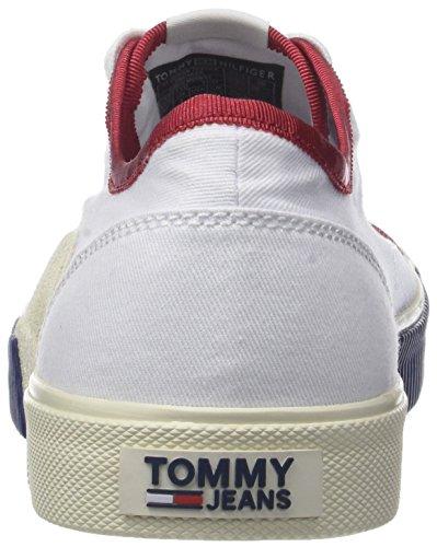 020 Blanco Zapatillas Tj Urban Hombre Jeans Tommy Sneaker Textile Rwb para S6qRxOT