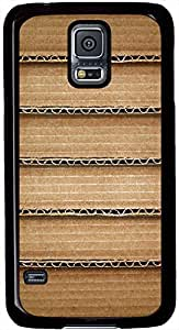 Brown Cardboard Shelf Samsung Galaxy S5 Case Durable Protective Case for Black Cover Skin - Compatible With Samsung Galaxy S5 SV i9600