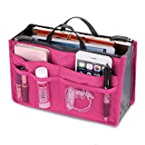 ThinIce Multi-Pocket Insert Handbag Purse Organizer Bag in Bag Handbag with zipper & Handles
